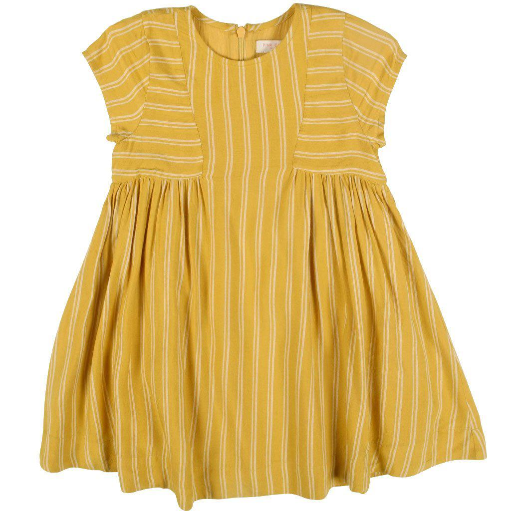 View larger version of Pink Chicken Elara Dress 2y mustard stripe - 19fpc340a