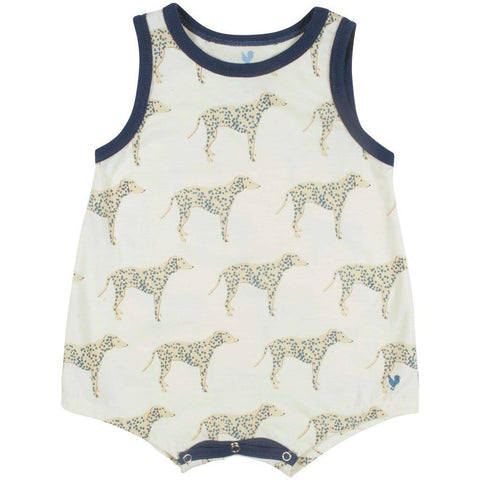 Pink Chicken Eli Onesie 3/6m antique white dalmatian - 19sbrb212a