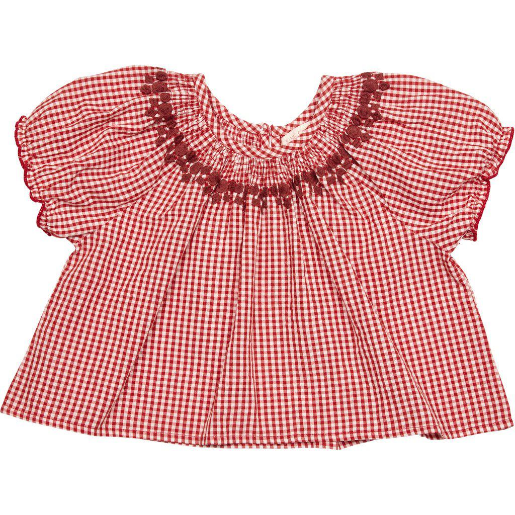 View larger version of Pink Chicken Elle Top 2y red gingham - 19spc290a