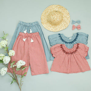 Pink Chicken Theodore Pant 2y china blue gingham - 19spc286c