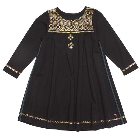 Farah Faux Emb Dress