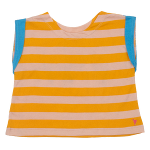 Pink Chicken Finley Top 2y mellow rose / mineral yellow stripe