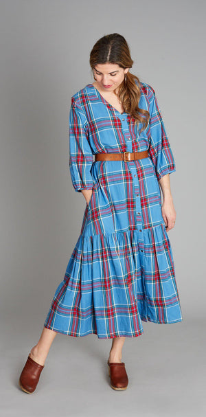Pink Chicken Fione Dress XS riviera tartan - 19fpcw208a