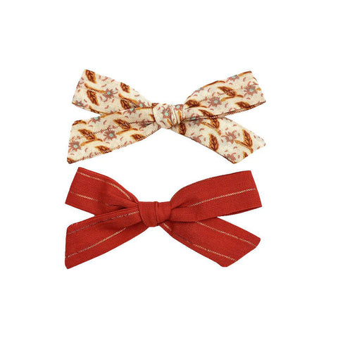 Pink Chicken Bow Clip Set ONE SIZE red/pink floral