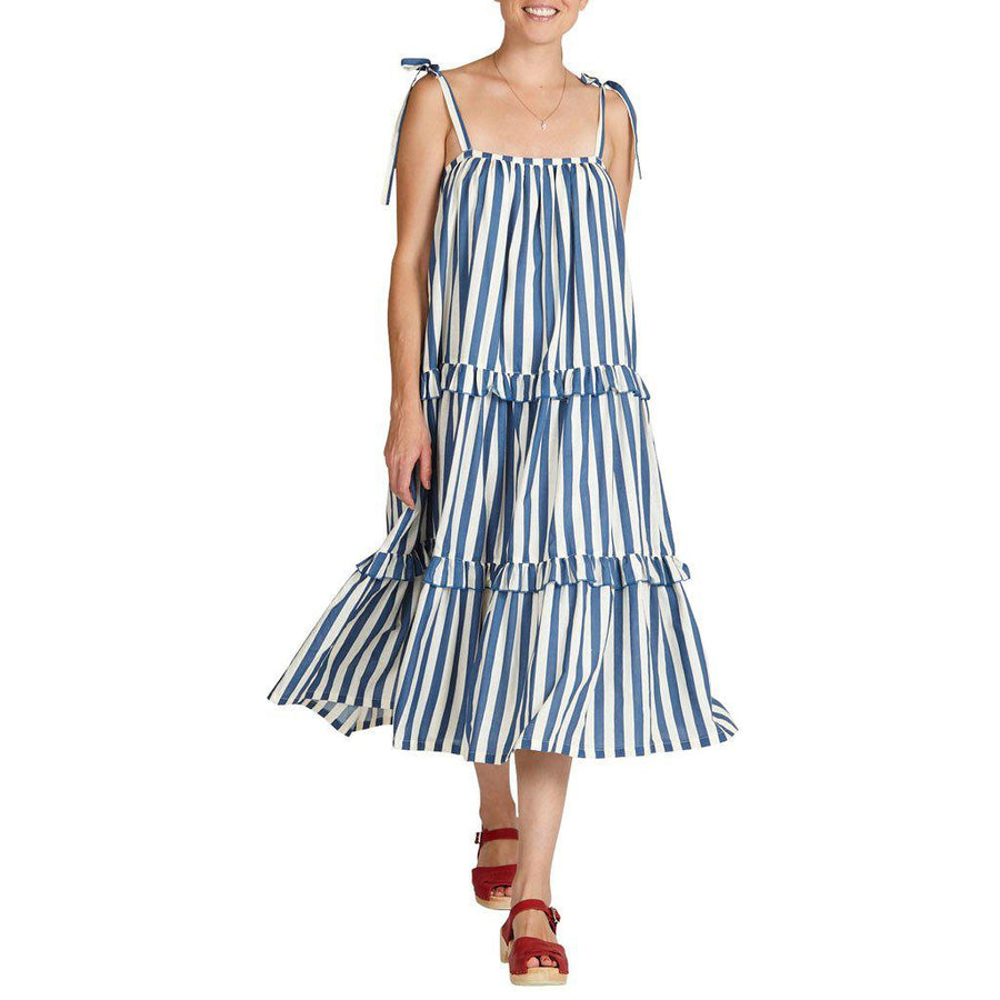 Pink Chicken Garden Dress xs dress blues stripe - 19sspcw171b