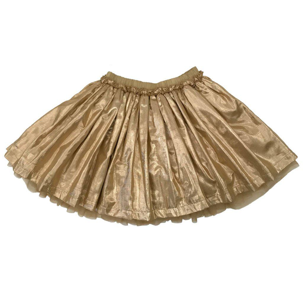 Pink Chicken Gianna Skirt 2y gold metallic - 18hpc523a