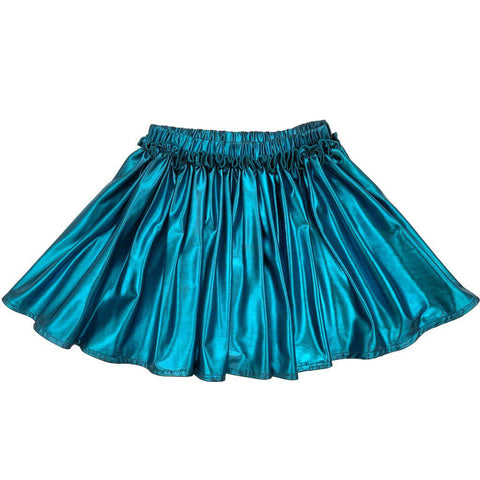 Pink Chicken Gianna Skirt 2y turquoise lame - 19ffpc523d