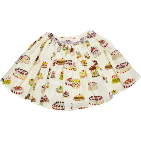 Pink Chicken Gianna Skirt 2y antique white multi desserts - 19sspc523a