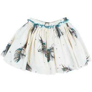 Pink Chicken Gianna Skirt 2y antique white unicorn - 19ffpc523b