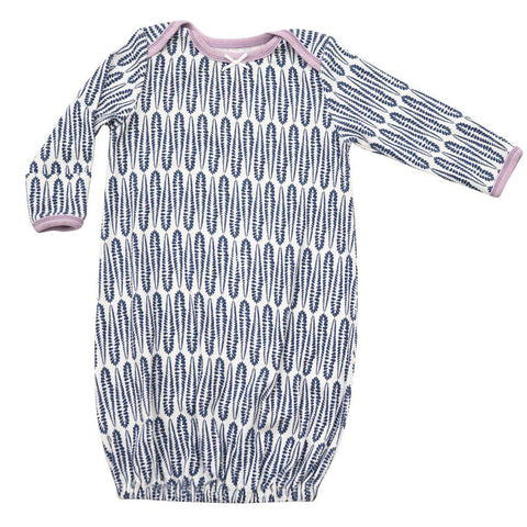 Pink Chicken Ginny Gown 0/3m blue raindrop - 18spcn923b