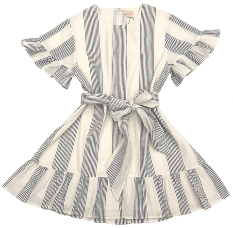 Pink Chicken Halsy Dress xs blue/white stripe - 19supcw195a