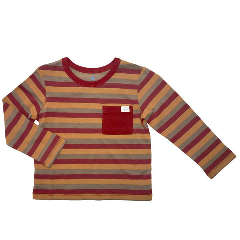Pink Chicken Harry Stripe T 2y rosewood/amber brown/cinder stripe - 18fbr103e