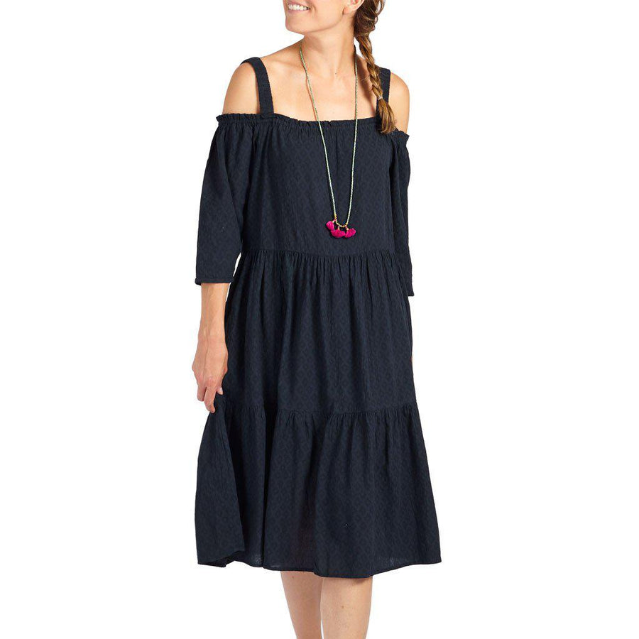 Pink Chicken Paulette Dress xs navy - 17sspcw168b