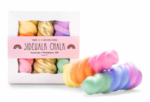 Pink Chicken Rainbow Unicorn Horn Sidewalk Chalk