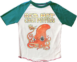 Pink Chicken Red Hot Chili Peppers SS Raglan T Alpine Green 12/18m
