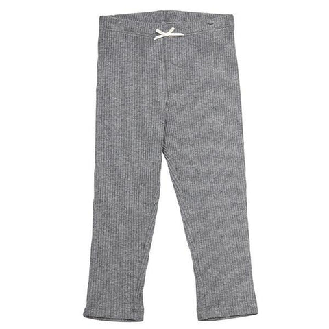 Pink Chicken Baby Rib Legging 3/6m gray heather - 18fpcb831d
