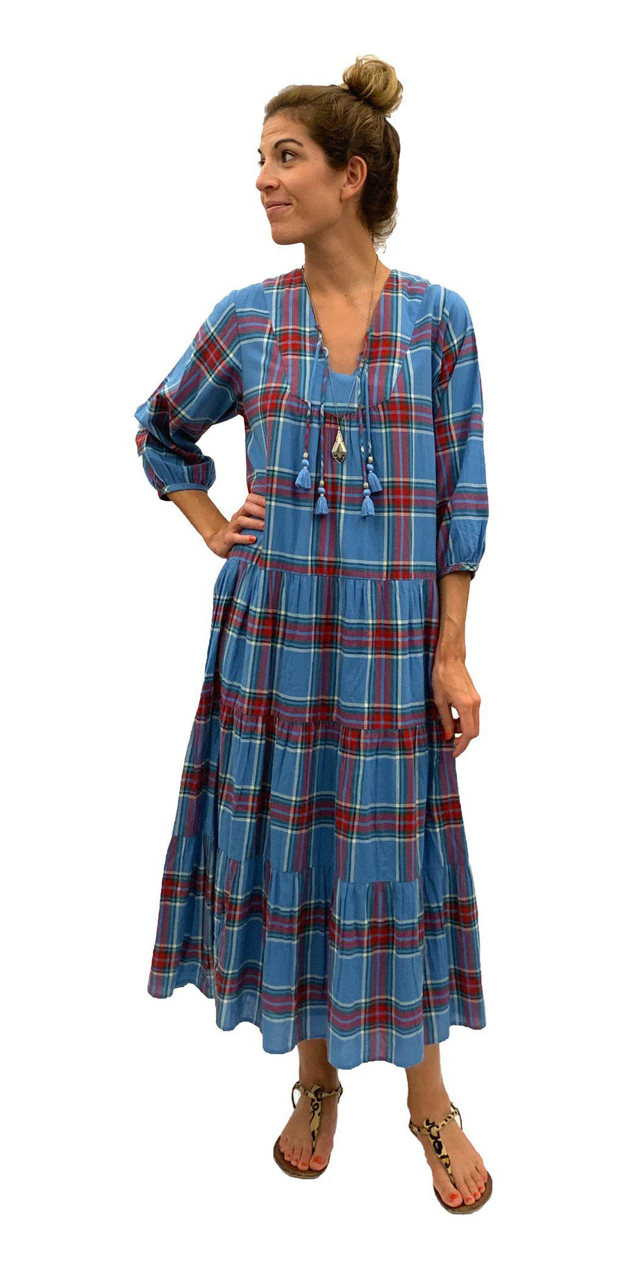 Pink Chicken Indira Dress XS riviera tartan - 19fpcw112a