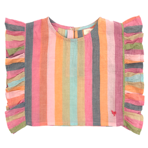 Pink Chicken Ingrid Top 2y multi stripe