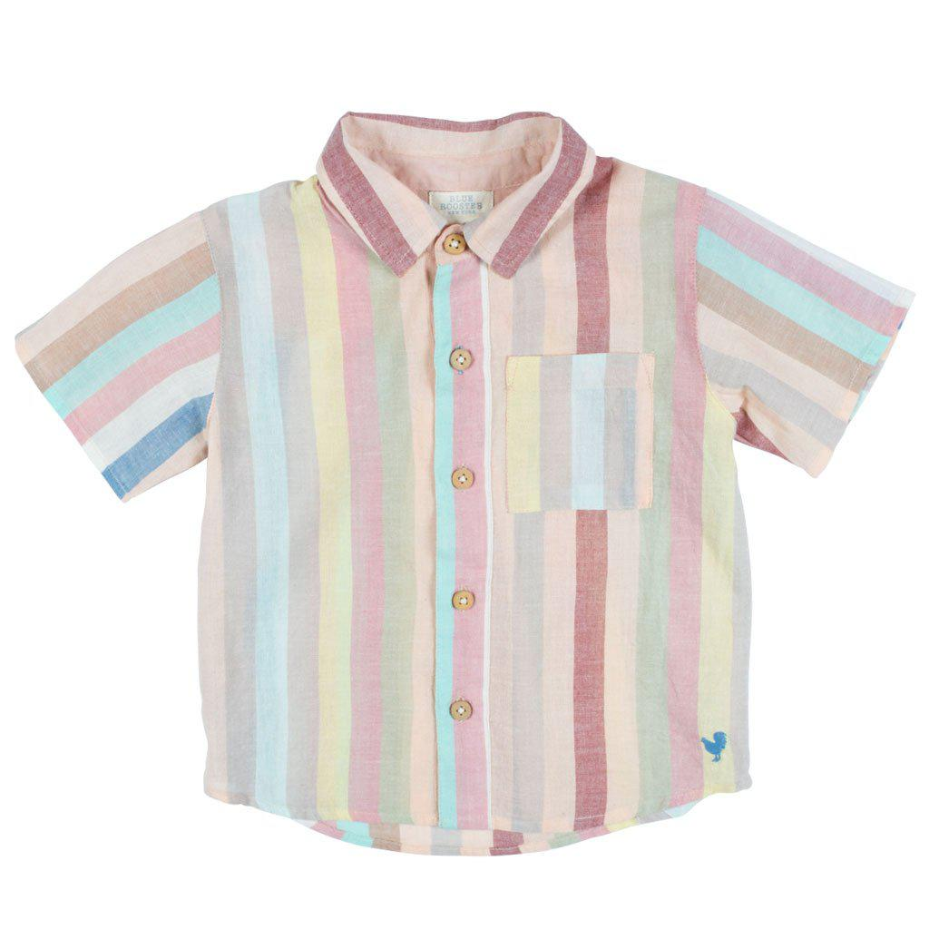 Pink Chicken Jack Shirt 2y multi vintage stripe - 19sbr100c