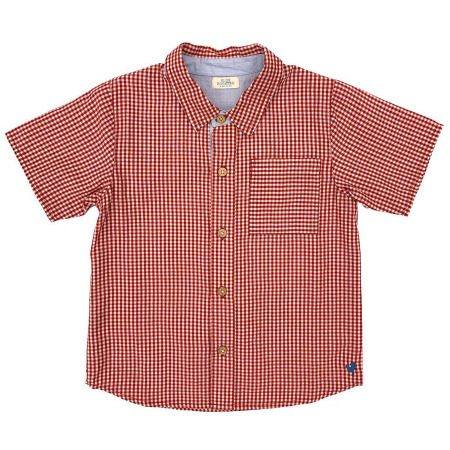 Pink Chicken Jack Shirt 2y red gingham - 19sbr100b