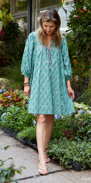 Pink Chicken Jade Dress XS feldspar green floral - 20espcw117b