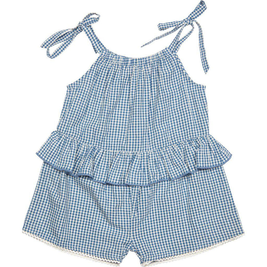 Pink Chicken Johanna Jumper 2y china blue gingham - 19spc522b