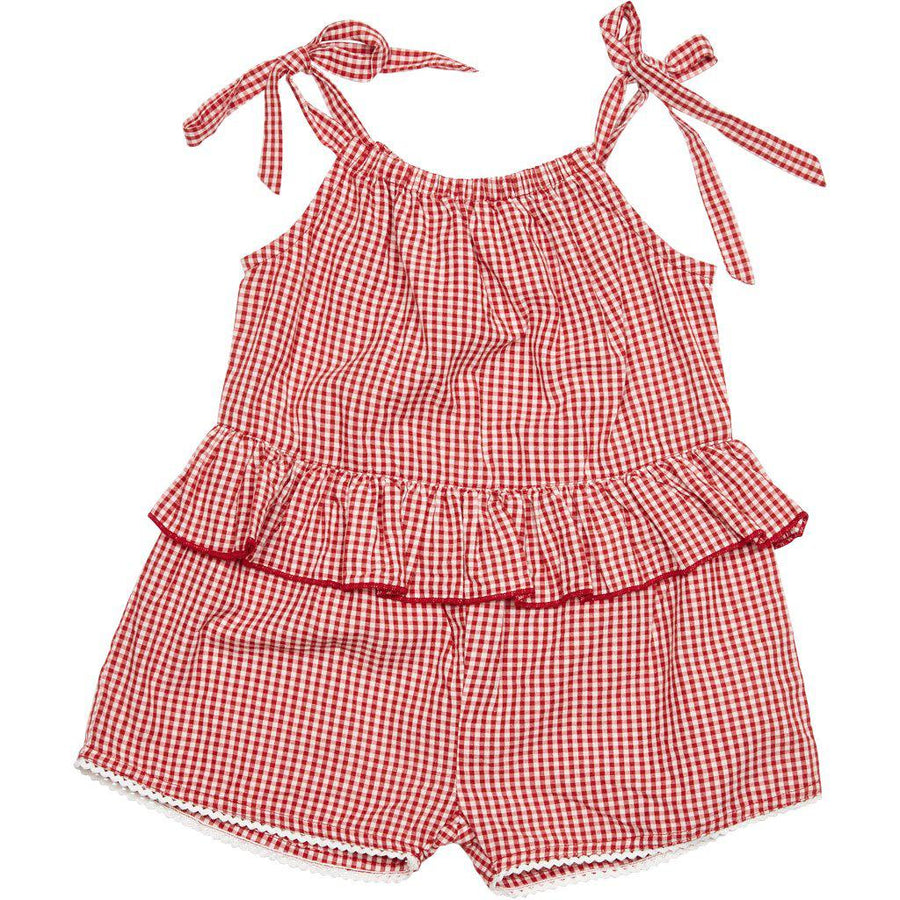 Pink Chicken Johanna Jumper 2y red gingham - 19spc522a