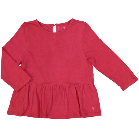Pink Chicken Joy Top 2y ribbon red - 18fpc638a