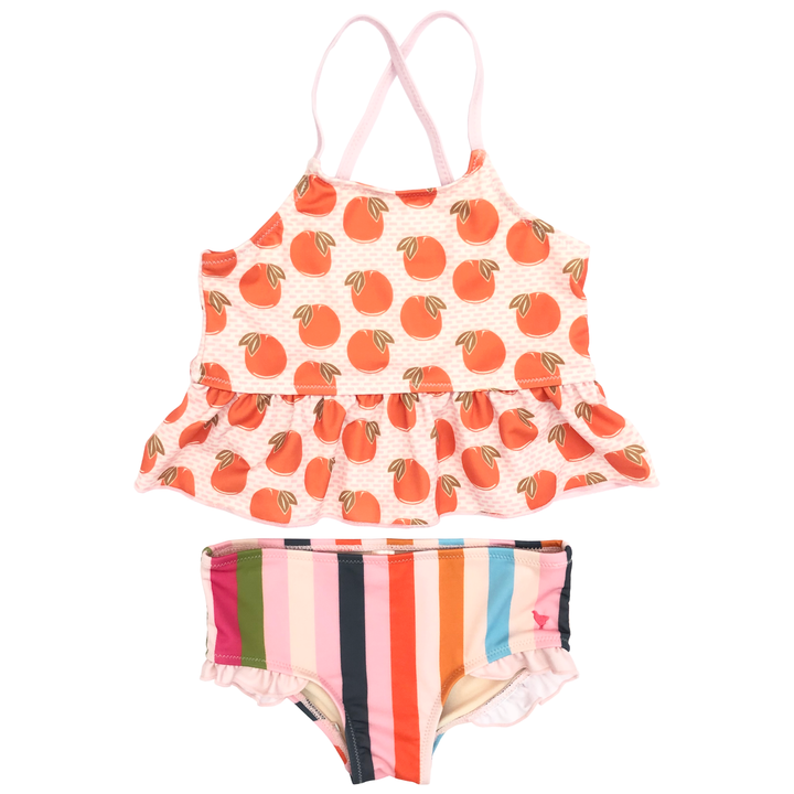 Pink Chicken Joy Tankini 2y cloud pink oranges
