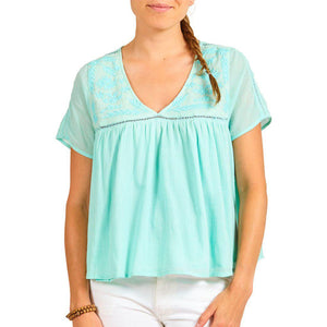 Pink Chicken Julianna Top XS eggshell blue - 18sspcw354b