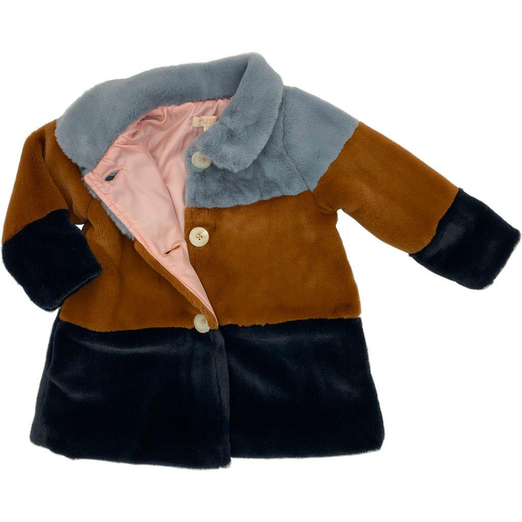 View larger version of Pink Chicken Kate Coat 2y slate/gingerbread/navy - 19ffpc317a