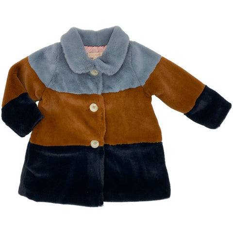 Pink Chicken Kate Coat 2y slate/gingerbread/navy - 19ffpc317a