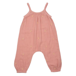 Pink Chicken Kelby Jumper 2y mellow rose w/ embroidery