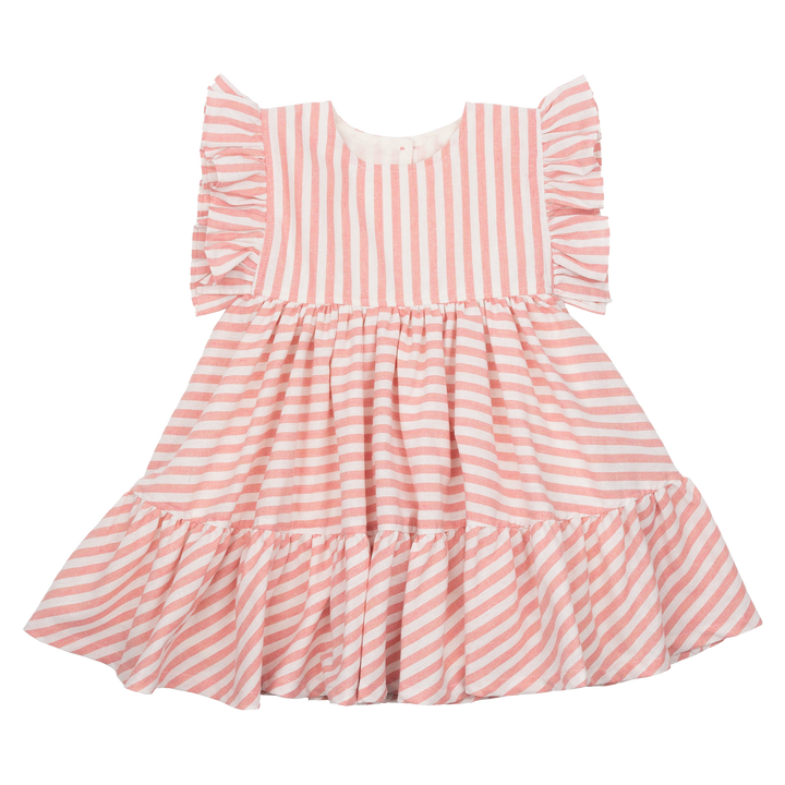 Pink Chicken Kit Dress 2y pink stripe
