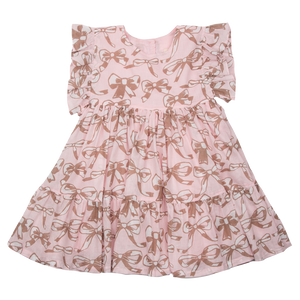 Pink Chicken Kit Dress 2y strawberry cream bows