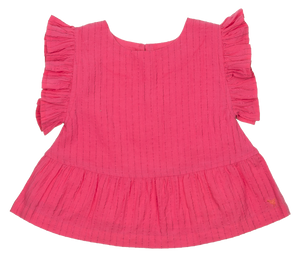 Pink Chicken Kit Top 2y shocking pink