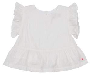 Pink Chicken Kit Top 2y white
