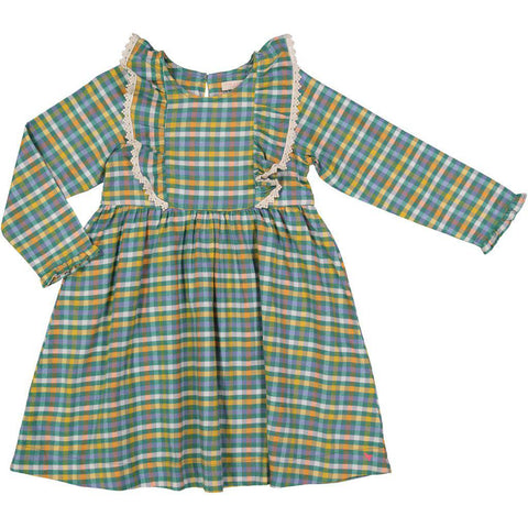 Pink Chicken Kylie Dress 2y foliage plaid - 18fpc255a