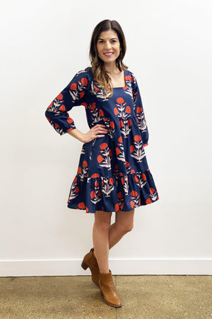 Pink Chicken Leena Dress XS dress blues dandelion