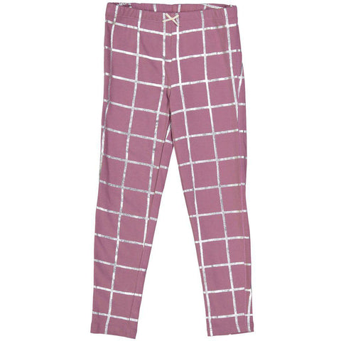 Pink Chicken Legging 2y very grape w/silver tattersall - 18fpc503i