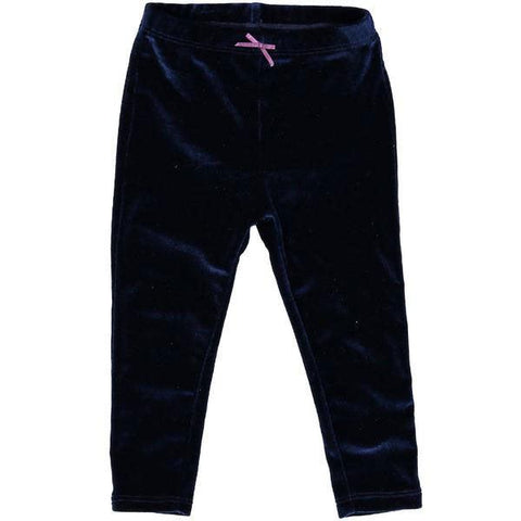 Pink Chicken Velour Legging 2y navy velour - 19ffpc503n