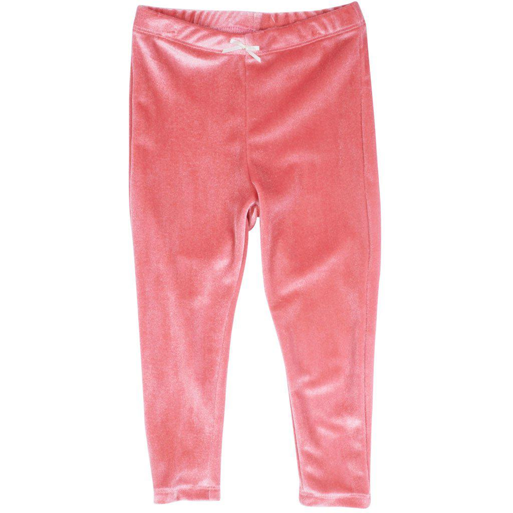 Pink Chicken Velour Legging 2y rapture rose velour - 19ffpc503l