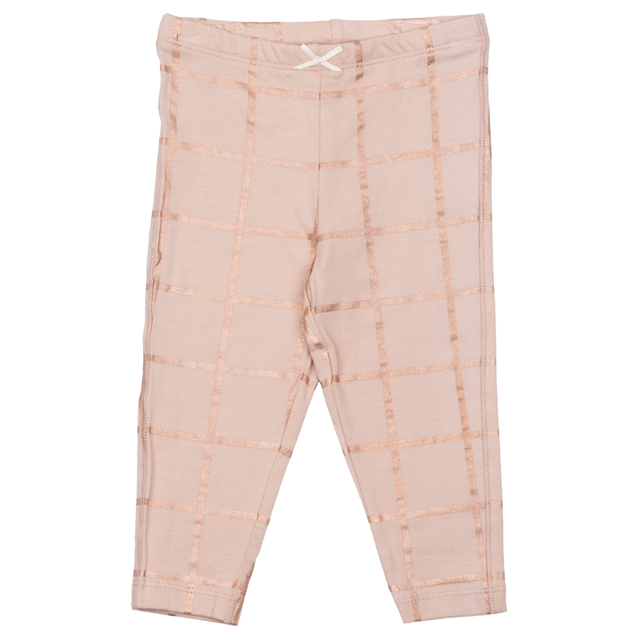 Pink Chicken Legging 2y cloud pink w/ rose gold tattersall