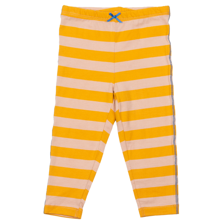 Pink Chicken Legging 2y mellow rose / mineral yellow stripe