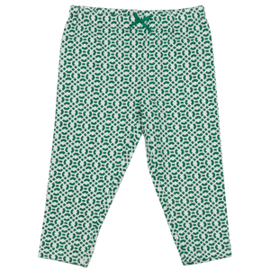 Pink Chicken Legging 2y bosphorous green lattice