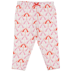 Pink Chicken Legging 2y sea pink umbrellas