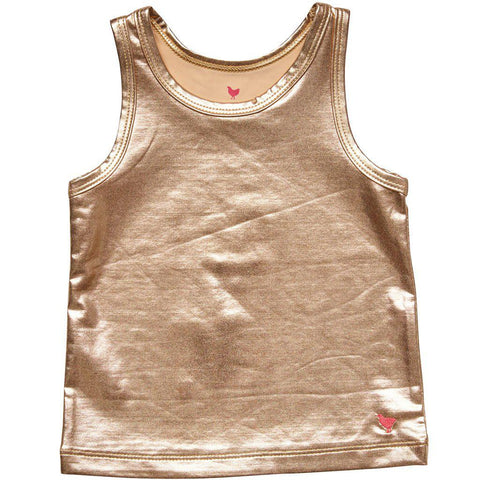 Pink Chicken Liza Lamé Tank 2y rose gold - 18spc236d