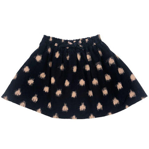 Pink Chicken Luna Skirt 2y navy polka dot ikat - 18ffpc219a
