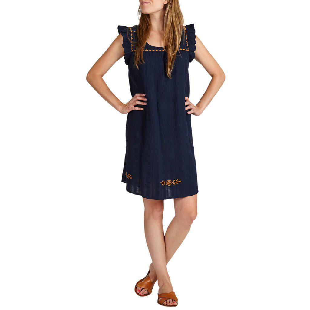 Women wearing the navy Marabelle dress.