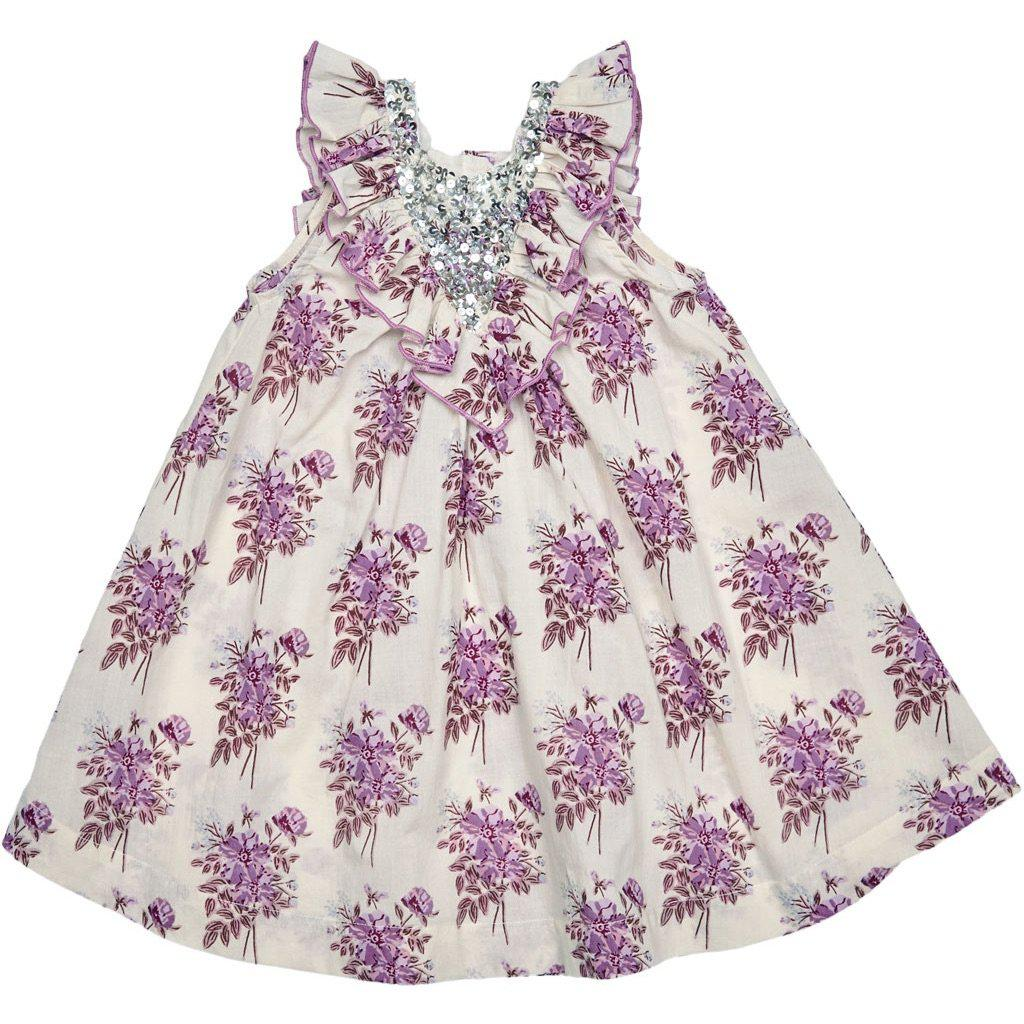 Pink Chicken Marly Dress 2y lavender floral - 19sspc289b